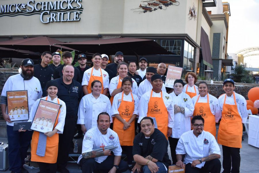 Entre los Restaurantes en el Garden Walk de Anaheim