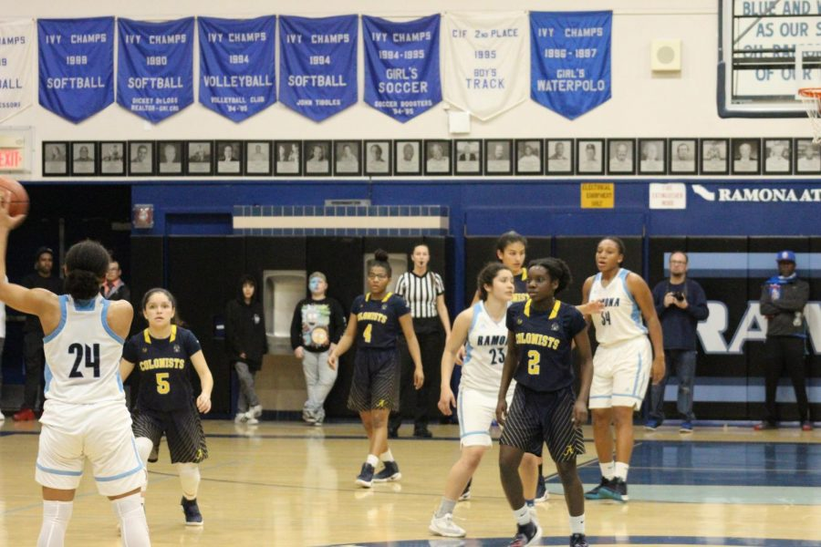 AHS Girl's Basketball Team Defeated Against Ramona High School