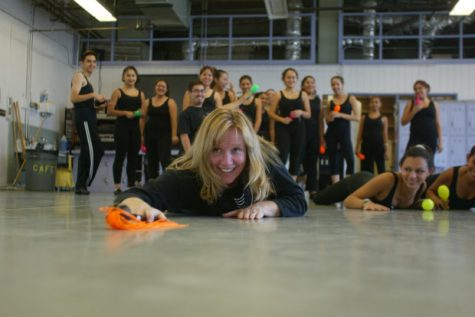Meg Elder teaches dance at Anaheim High School. (Photo by Jebb Harris, Orange County Register)