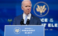 President-elect Joe Biden speaks at The Queen theater in Wilmington, Del., Wednesday, Jan. 6, 2021.