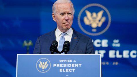 President-elect Joe Biden speaks at The Queen theater in Wilmington, Del., Wednesday, Jan. 6, 2021.