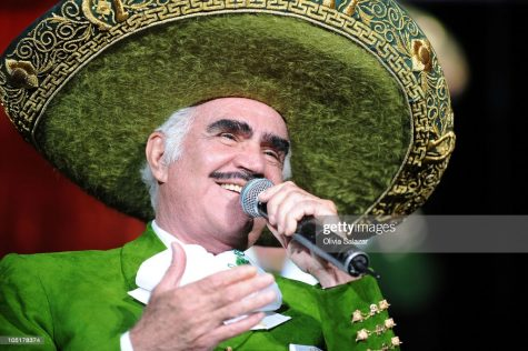 MIAMI - OCTOBER 10:  Mexican singer Vicente Fernandez performs at AmericanAirlines Arena on October 10, 2010 in Miami, Florida.  (Photo by Olivia Salazar/WireImage)